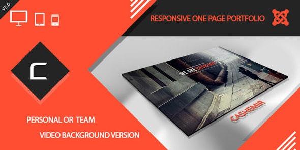 Cashemir - Responsive One Page Joomla Template - Portfolio Creative
