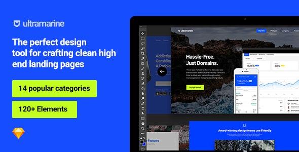 Ultramarine UI Kit - Sketch UI Templates
