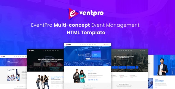 Eventpro - Events and Conference HTML Template - Events Entertainment