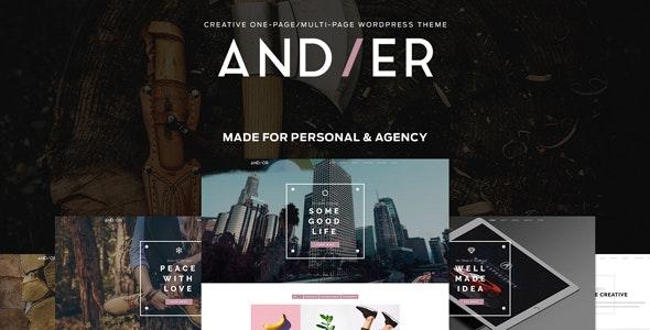 Andier - Responsive One & Multi Page Portfolio Theme - Portfolio Creative