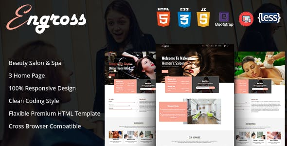 Engross - Spa and Beauty Salon Template