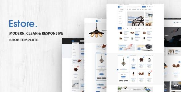 Estore - Minimal Furniture Store HTML Template