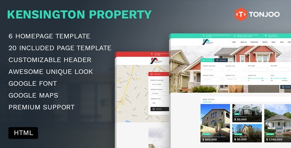 Kensington - Poperty HTML Template - Business Corporate