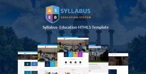 Syllabus - Education Responsive HTML5 Template