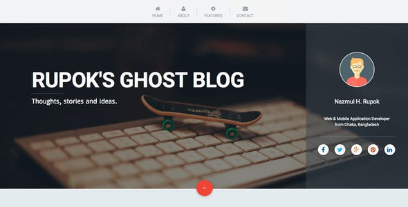 Pencraft - Material Design Ghost Theme