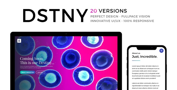 DSTNY - Revolutionary Coming Soon Template - Under Construction Specialty Pages