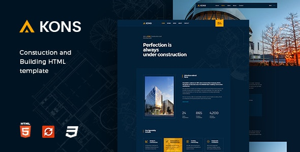 Kons - Construction and Building Template - Business Corporate