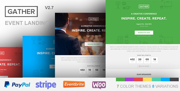 Gather - Event & Conference WP Landing Page Theme - Events Entertainment
