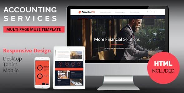 Accounting Services Responsive Adobe Muse Template