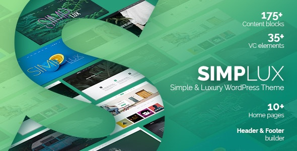 Simplux - Creative Portfolio and Blog WordPress Theme - Creative WordPress