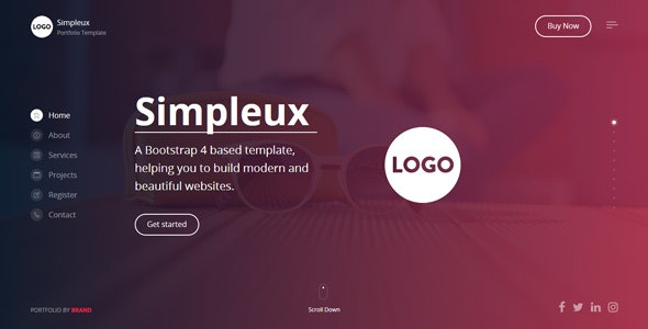Simpleux - Beautiful Creative Website Template for Agency, Business and Portfolio - Portfolio Creative