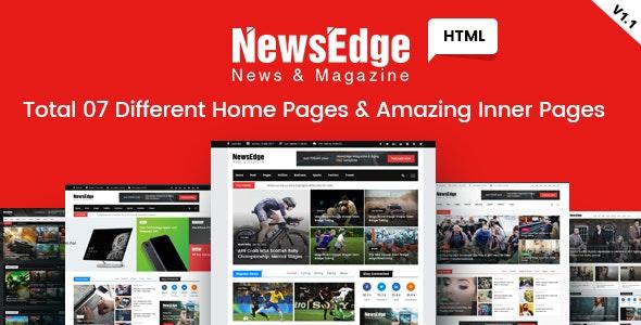 NwsEdge - News & Magazine HTML Template - Corporate Site Templates