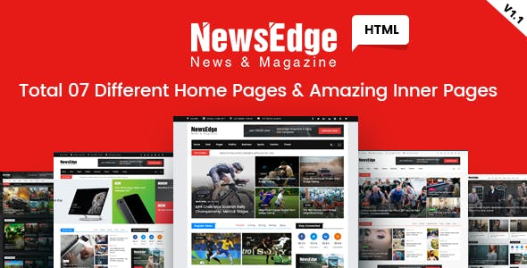 NwsEdge - News & Magazine HTML Template