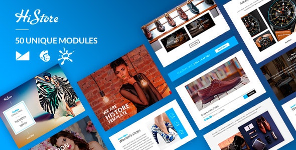 HiStore Email-Template + Online Builder - Catalogs Email Templates