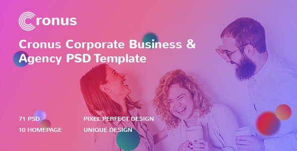 CRONUS - Corporate Business and Agency PSD Template - Corporate Photoshop