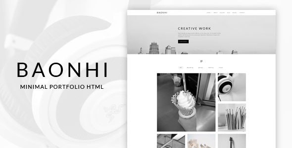 BaoNhi - Minimal Portfolio & Blog HTML - Portfolio Creative
