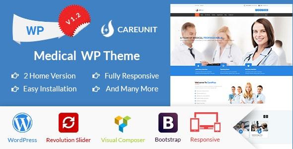 Careunit - Medical WordPress Theme - Business Corporate