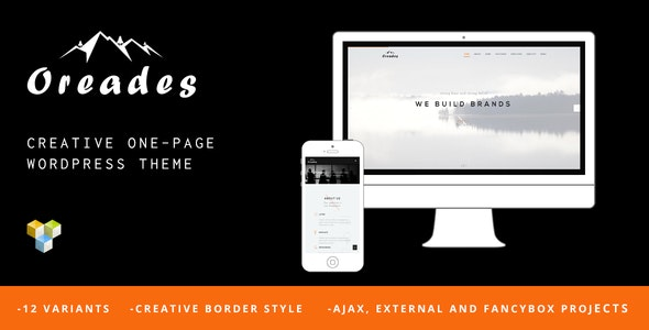 Oreades - Creative One-Page WordPress Theme - Creative WordPress