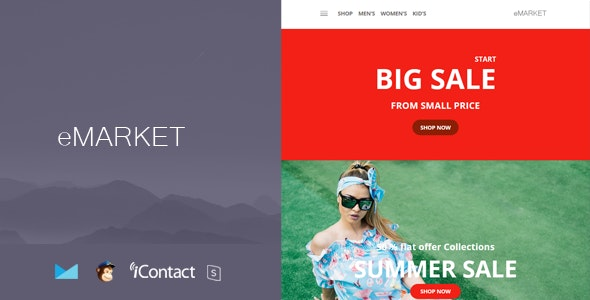 eMarket Mail - Responsive E-mail Template + Online Access - Email Templates Marketing