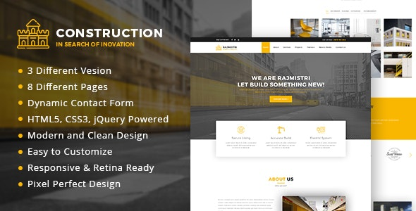Construction - HTML Template - Business Corporate