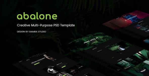 Abalone Creative Multi-Purpose PSD Template - Creative Photoshop