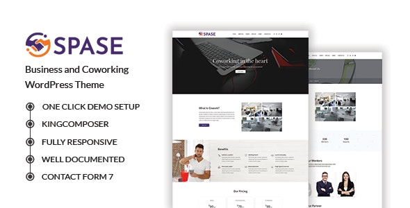 Spase - Business and Coworking WordPress Theme - Business Corporate