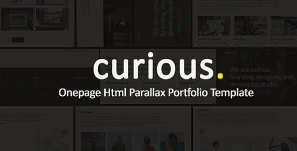 Curious - Onepage Parallax - Creative Site Templates