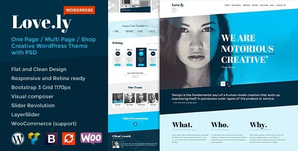 Love.ly - Simple & Elegant WordPress theme - Creative WordPress