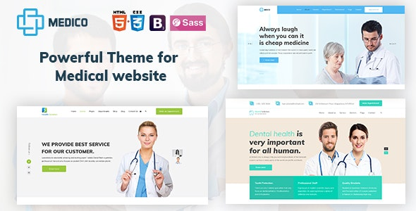 Medico - Medical, Health, Dental and Clinical HTML5 Template - Health & Beauty Retail