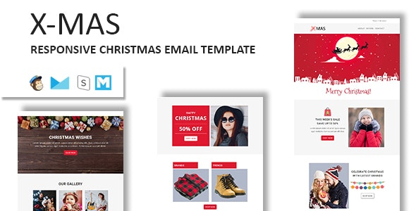 XMAS - Responsive Christmas Email Newsletter Template with Stampready Builder Access - Newsletters Email Templates