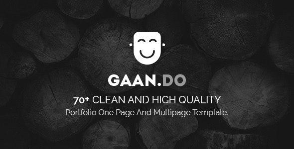 Gaando - Responsive Portfolio And Multipurpose HTML Template - Portfolio Creative