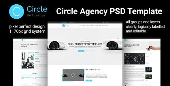 Circle Agency PSD Template - Photoshop UI Templates