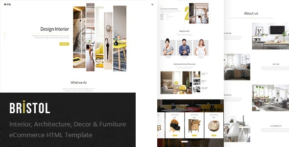 Bristol - Interior / Architecture / Decor & Furniture eCommerce HTML Template - Shopping Retail