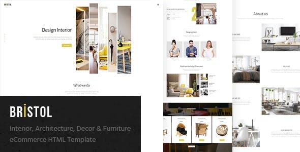 Bristol - Interior / Architecture / Decor & Furniture eCommerce HTML Template