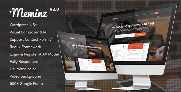 Meminz - Download Software Landing Page Theme by cththemes