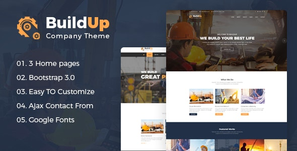 Construction Agency HTML Template - Buildup - Business Corporate