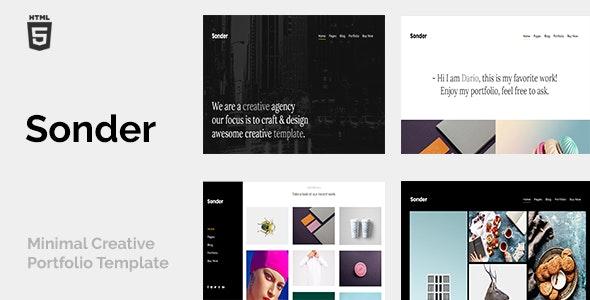 Sonder - Minimal Creative Portfolio - Portfolio Creative