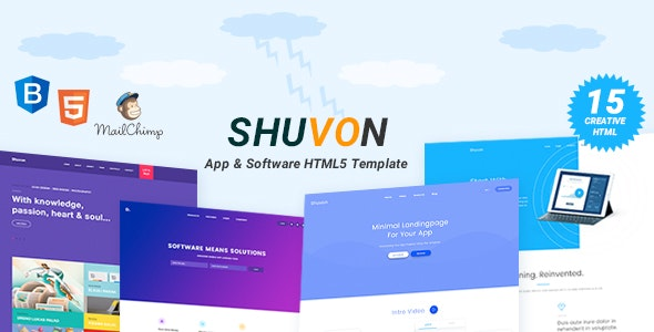 Shuvon - App & Software Multipurpose Marketing Landing Page Template - Software Technology