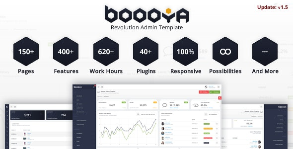 Boooya - Revolution Admin Template - Admin Templates Site Templates