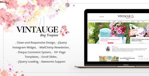 Vintauge - Responsive & Fashion Ghost Blog Theme (GloriaThemes) - Ghost Themes Blogging