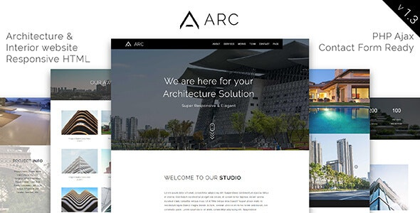 ARC_Architecture / Interior / Construction HTML Template - Corporate Site Templates