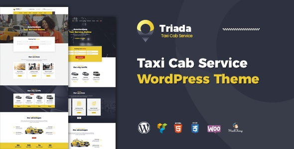 Triada - Taxi Cab Service Company WordPress Theme - Corporate WordPress