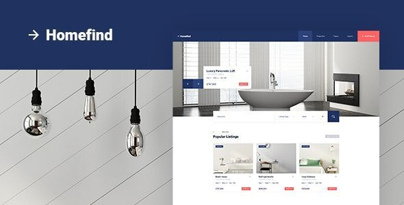 Homefind - Real Estate PSD Template - Business Corporate