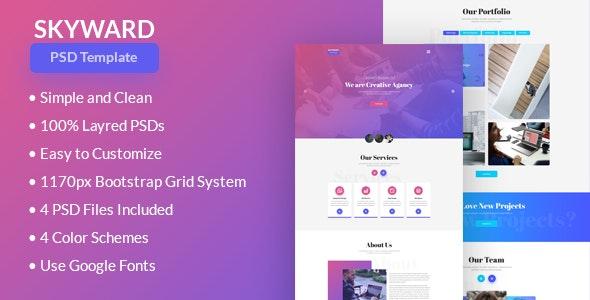 Skyward PSD Template - Portfolio Creative
