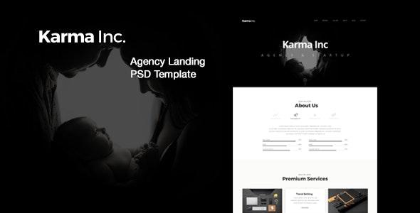 Karma Inc. Agency Landing PSD Template - Creative Photoshop