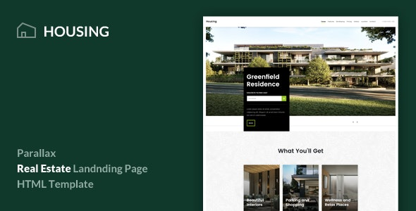 Housing - Real Estate Landing Page Template - Corporate Landing Pages