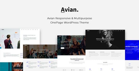 Avian - Responsive and Multipurpose OnePage WordPress Theme