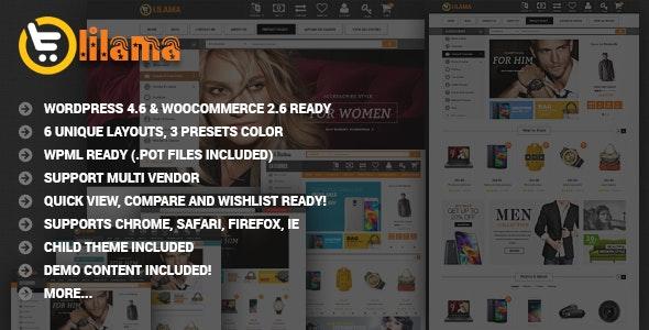 VG Lilama - Mega Shop Responsive WooCommerce Theme - WooCommerce eCommerce