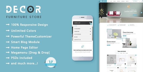 Decor - Furniture Interior PrestaShop 1.7 Theme - Shopping PrestaShop