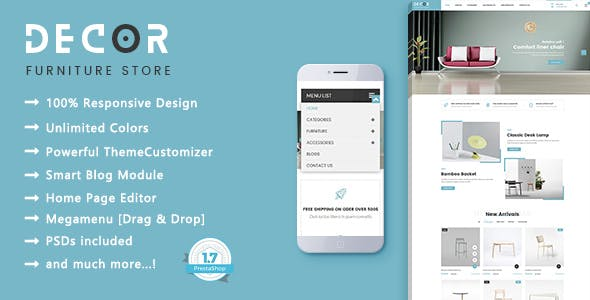 Decor - Furniture Interior PrestaShop 1.7 Theme